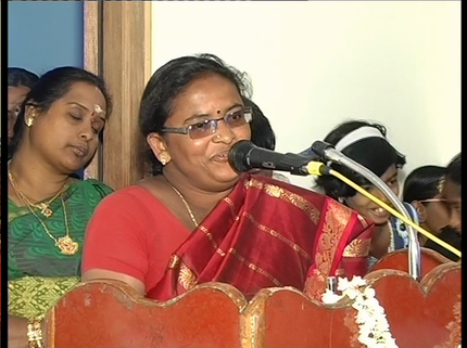 Mrs. Vijayalakshmi (God Contacter) - one of the members of the Project Regard.