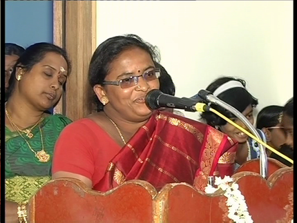 Mrs. Vijayalakshmi (God Contacter) is one of the persons who joined both Theory & Practical in The Project Live* Breath.