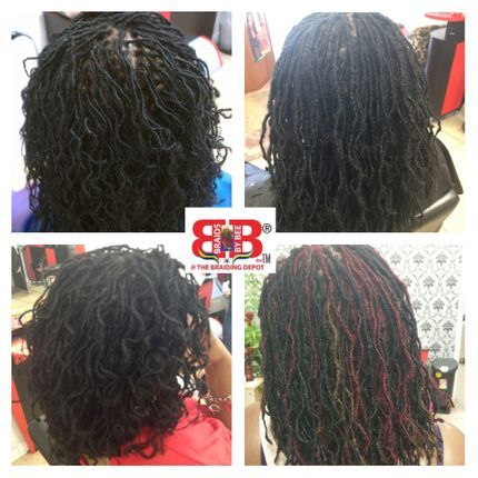 Micro part size Sisterloc Dread Extensions done by Bee @ Braidsbybee