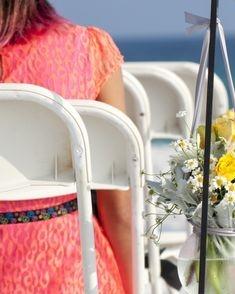 Shepherd hook beach flower arrangement