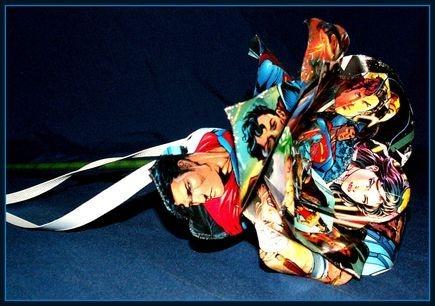 Superman and Wonder Woman Comic Book Rose