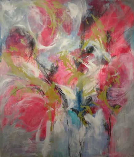 Floral, flowers painting, art