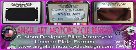 Custom Billet Motorcycle license plate frames
