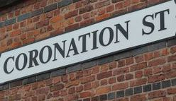 The World famous Coronation Street logo and show