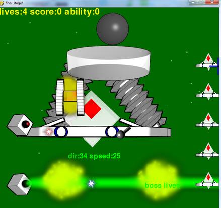 turret facing final boss