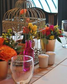 Fiesta wedding centerpiece