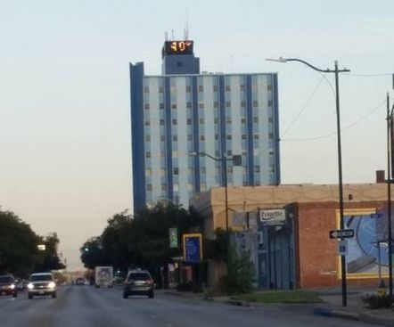 Another look at Big Blue in downtown Wichita Falls, TX - iconic skyline