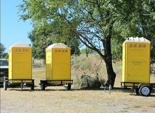 Porta Johns on  trailers