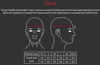 Size matters - measure your head for you helmet V2Sport motorsport size guide vulcan racing