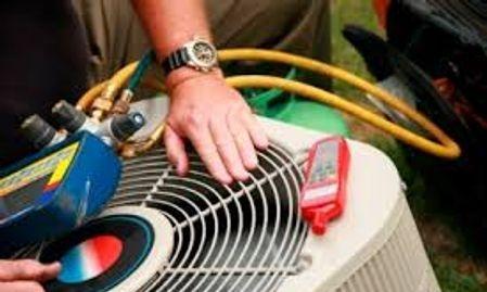 heat pump condensor inspection