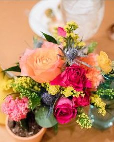 Fiesta table flowers