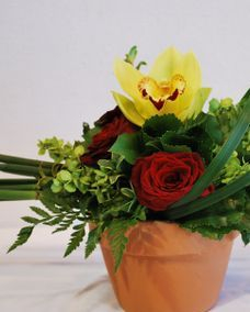 Event flowers, cymbidium orchid centerpiece