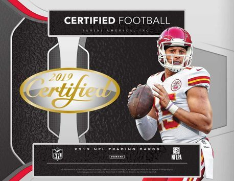 2019 Panini Certified NFL Football Hobby