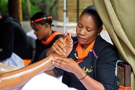 Foot massage & reflexology.