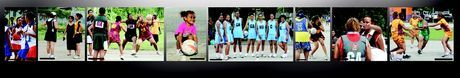 Images of netballers in PNG