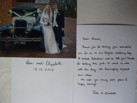 Thank you from the bride and groom