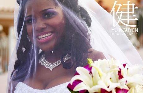 Happy Nikki at her wedding