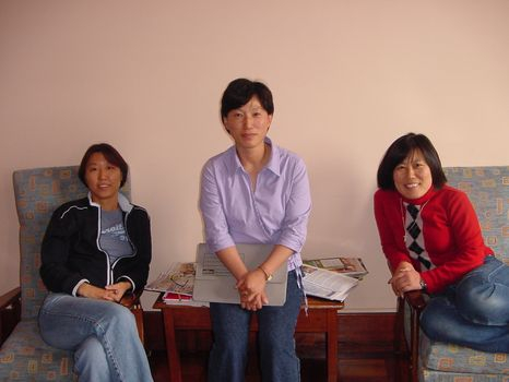 Sophia, Maria and Susana from Korea.(2001)