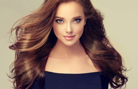 Beautiful Brunette Woman with Long Hair