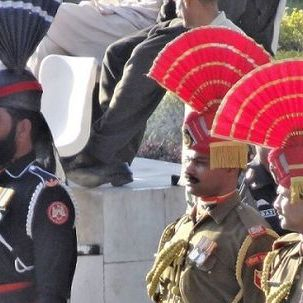 "src=""australian womens travel.jpg alt=womens tours,soldiers at the wagah border ceremony , India"