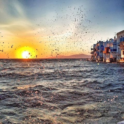 What a sunrise , this is Greek to me !, Mykonos
