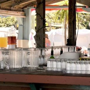 Tiki Hut  Beach Wedding Si Como No Inn