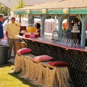 Tiki Hut Bar Reception Set Up