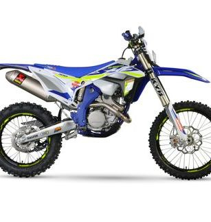 Sherco SEF 250 Factory Exhaust Side View