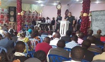 Tom Lorek preaching on DR Congo