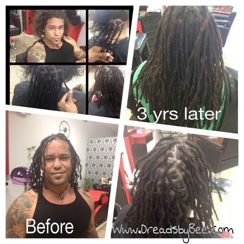 Braids by Bee starts dreadlocks on Hispanic hair texture with InstantLoc Dread Extensions.