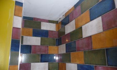 ceramic tile shower wall