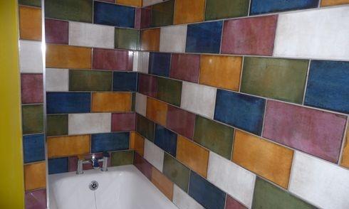 ceramic tile aluminum trimmed