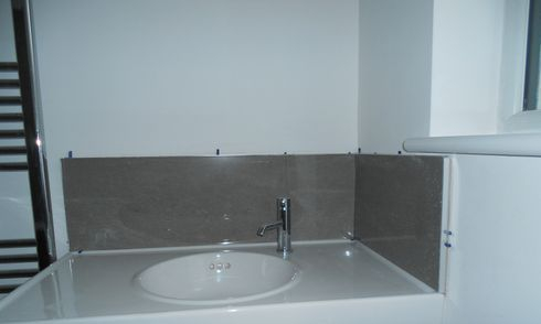 porcelain backsplash (grey)