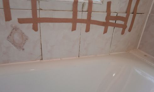 Bad tiling job, water damaged