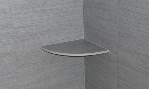 Porcelain shower shelf