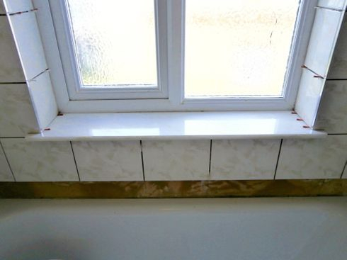 Marble slab window sill