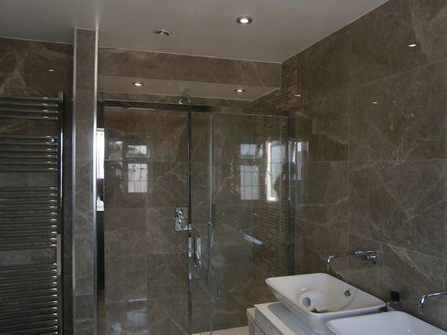 marble bathroom job
