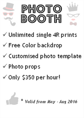 Professional & Affordable Photo Booth for the budget conscious.