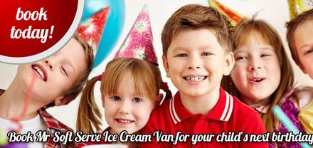 childrens party ice cream machine hire