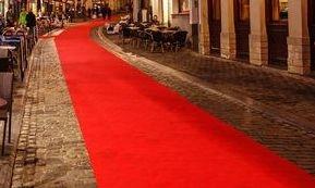 Red, Ivory or white aisle runner carpet