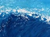 Surfing wave painting