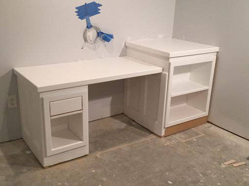 Completed desk build-primed by owners