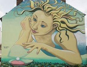 street art mural gable oysters whitstable