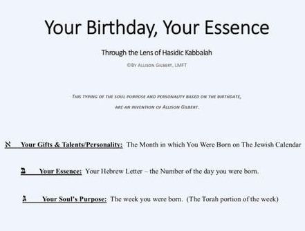 Kabbalah of Your Birthday