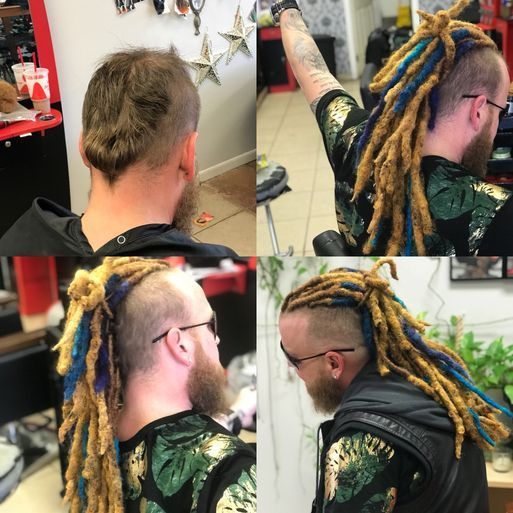Braids by bee does dreadlocks for those that wants permanent virgin dreads to color as wanted.