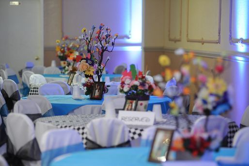 Decorations in blue