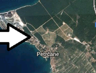 Map view of Petrčane near Zadar
