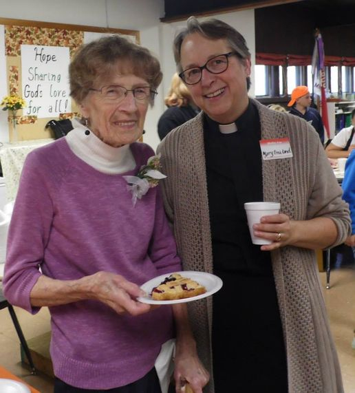 Janice Terrill and Bishop Mary Froiland