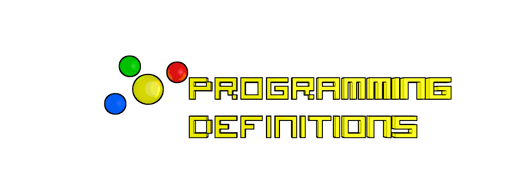 Learn programming definition terms here.