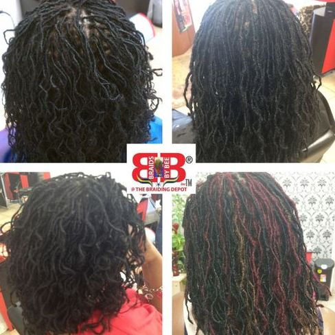 Sisterlocs started with Braids by Bee Instantlocs dread extensions method